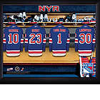 Personalized NHL New York Rangers Locker Room Print