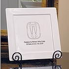 Personalized Initial Decorative Platter & Easel Set