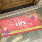 Spring Flowers Personalized Seasonal Doormats