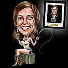 Custom Birthday Caricature for Her