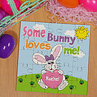 Some Bunny Loves Her Personalized Easter Jigsaw Puzzle