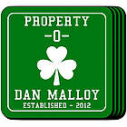 Personalized Property O' Shamrock Coasters