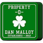 Personalized Property O' Shamrock Coasters