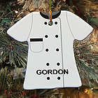 Personalized Ceramic Chef Ornament