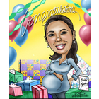 Baby Shower Caricature