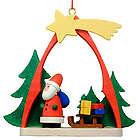 Shooting Star Santa Christmas Ornament