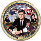 John F Kennedy Heirloom Porcelain Commemorative Plate
