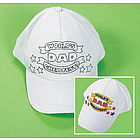 "Color-Your-Own ""World's Greatest Dad"" Baseball Caps"
