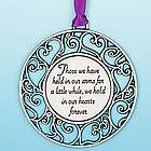 Memory Ornament Those We Have Held For a Little While
