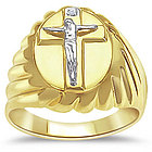 Mens Crucifix Ring