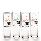 Personalized Flamingo Lounge Glasses