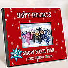 Personalized Red Holiday Picture Frame