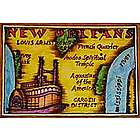 New Orleans Map Leather Photo Album in Color