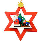 Santa Red Star-Framed Christmas Ornament