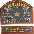 Sheriff's Personalized Pub Sign