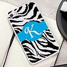 Zany Zebra iPhone Case with White Trim