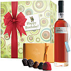Happy Birthday Warres Otima Port and Godiva Chocolates Gift Box