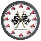 Red Sprint Car Wall Clock
