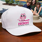 Give a Hoot Breast Cancer Awareness Cap