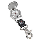 Chrome Pocket Watch with Compass