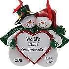 World's Best Godparents Snow Couple Ornament