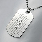 Personalized Lord's Prayer Dog Tag Necklace