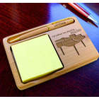 Personalized Piano Wooden Notepad & Pen Holder