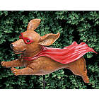 Super Wiener Dog Garden Sculpture