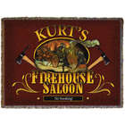 Personalized Firehouse Saloon Throw Blanket
