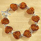 Baltic Amber Heart Bracelet
