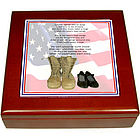 "Personalized ""Until You Get Back Home"" Military Keepsake Box"