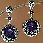 Moonlight Dazzle Sterling Silver Dangle Earrings