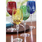 Colorful Etched Goblet Set