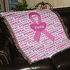 Breast Cancer Awareness Tapestry Throw Blanket