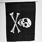 Rayon Pirate Skull Flag