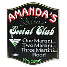 Martini Social Club Personalized Sign