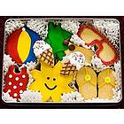 A Day at the Beach Hand Decorated Sugar Cookies Tin