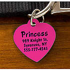 Engraved Heart Pet ID Tag