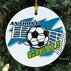 Personalized Ceramic Soccer Ornament