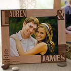 Because of You Romantic Personalized Picture Frame