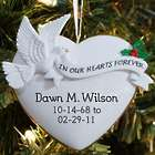 In Our Hearts Personalized Ornament