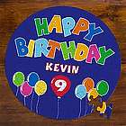 Blue Happy Birthday Balloon Personalized Puzzle