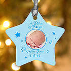 Personalized Baby Photo Star Ornament