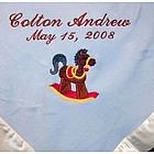 Personalized Rocking Horse Baby Blanket
