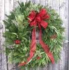 Fresh Greenery Holiday Wreath