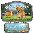 Lovable Chihuahuas Personalized Welcome Sign