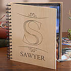 Engraved Wood Monogram Personalized Photo Album