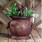 Copper Kettle Fountain with Planter