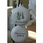 Personalized Ceramic Christmas Trees Ornament