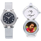 Ladies Keepsake Watch with Hidden Chamber for Personalization